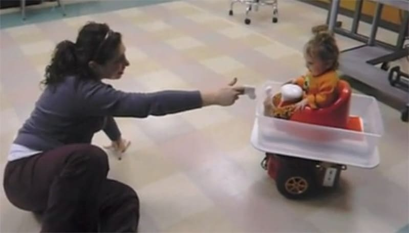 Wii Balance Board used to create motorized baby buggy