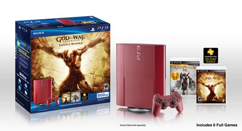 Garnet Red PS3 heads to North America in God of War: Ascension bundle