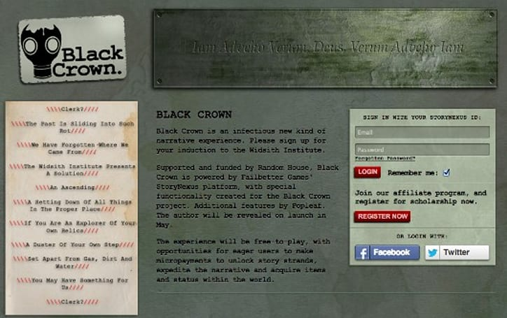 Random House gets interactive with StoryNexus tech and 'Black Crown'