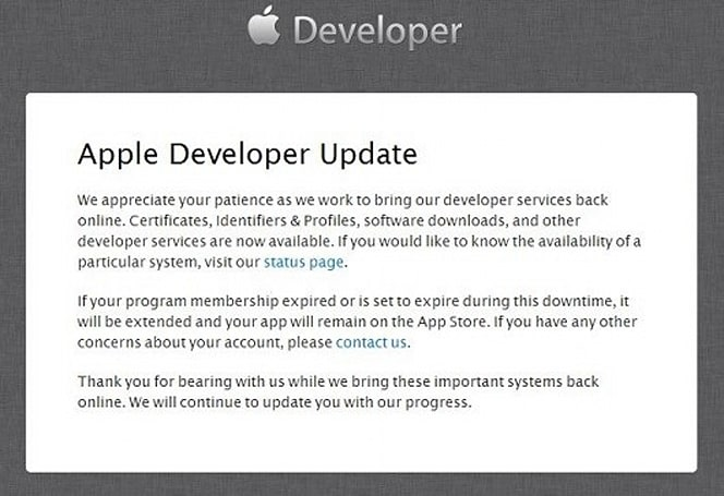 Apple's developer site partially restored after hack
