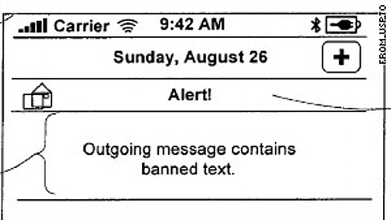 Apple patents content filter for outbound text messages