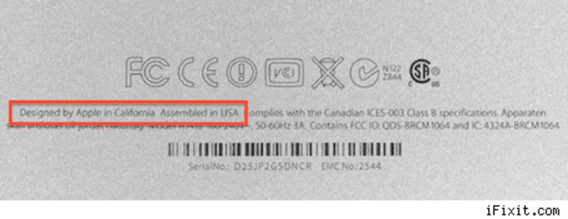 """Some new iMacs """"Assembled in USA""""?"""