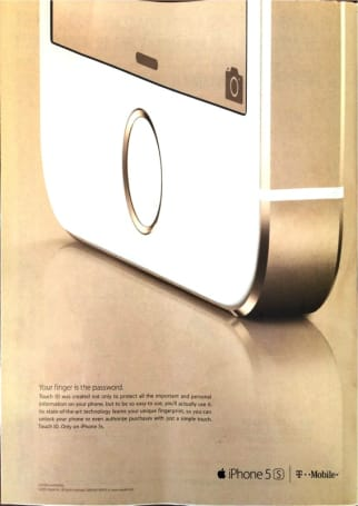 Apple begins marketing the iPhone 5s in magazines