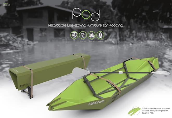 來自香港的 Pod 變形傢俱救生艇晉級 James Dyson 設計大獎決賽