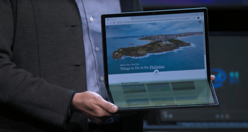 Intel used a 17-inch foldable tablet to show off its 'Tiger Lake' platform