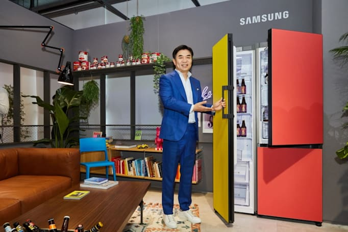 Samsung's customizable refrigerator comes in nine colors and eight sizes