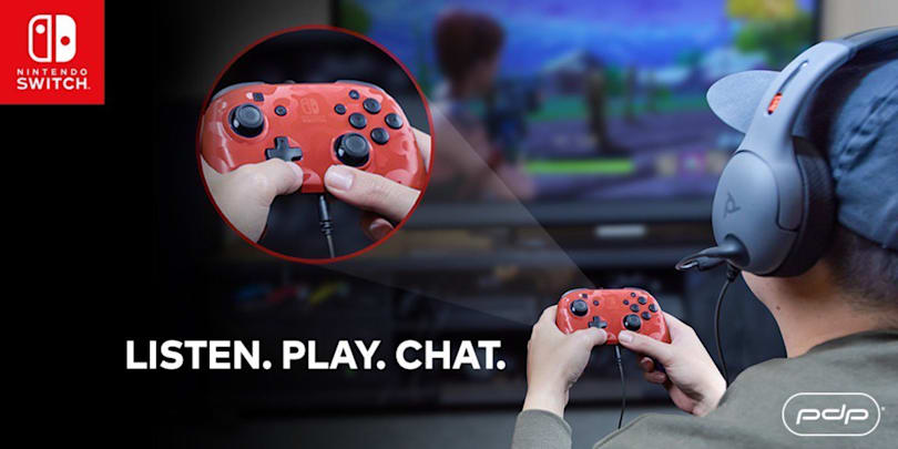 Finally, a Switch controller with a headphone jack