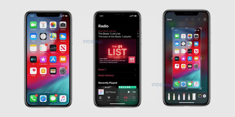 iOS 13's Dark Mode is on display in new screenshots