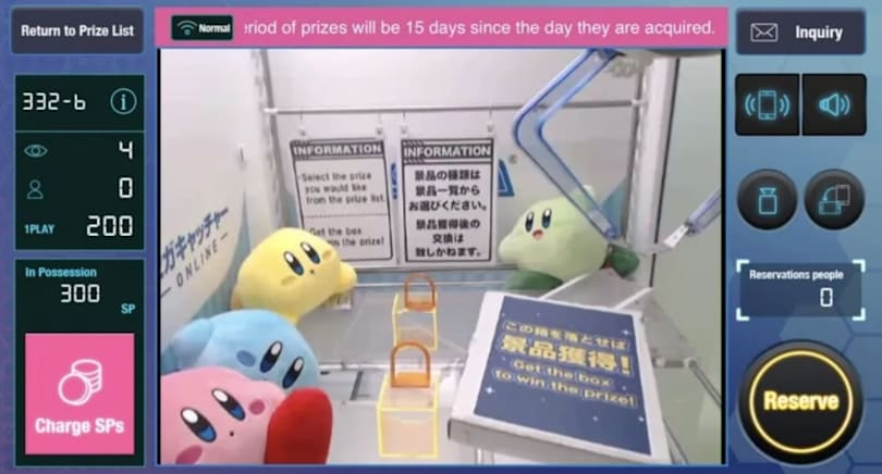 Sega's new app lets you remotely win prizes from a real claw machine in Japan