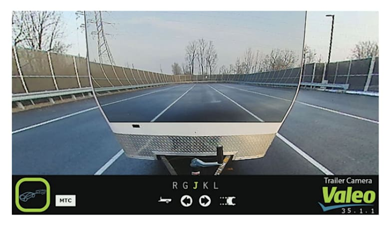 Valeo's vehicle camera makes whatever you're towing disappear