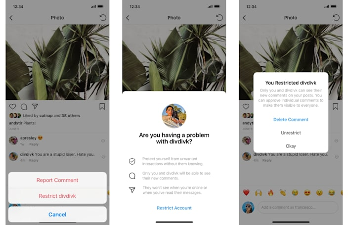 Instagram's anti-bullying tool lets you 'restrict' problematic followers