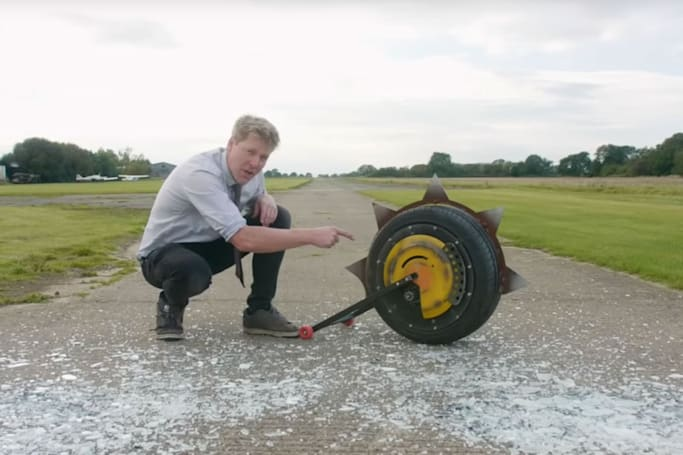 Colin Furze made a real version of Junkrat's RIP-tire from 'Overwatch'