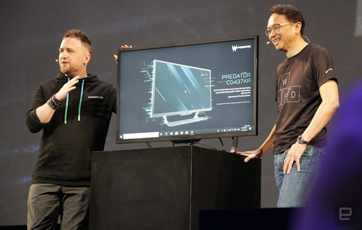 Acer's giant 43-inch gaming monitor has 144Hz variable refresh