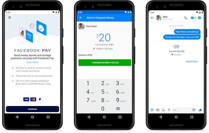 Facebook Pay lets you buy goods and send money inside Facebook's apps