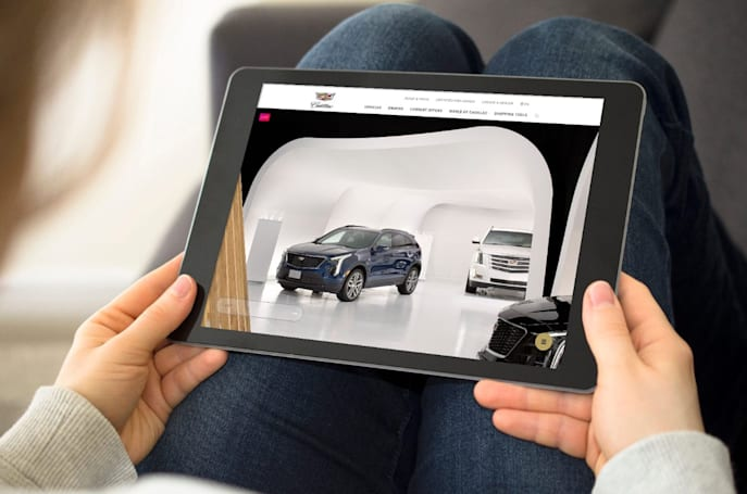 Cadillac will help you shop for cars in a live virtual showroom