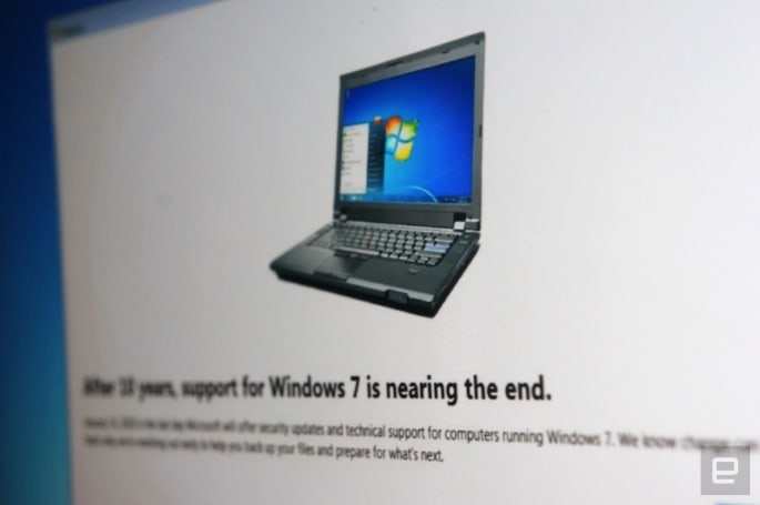 Microsoft ends support for Windows 7 today