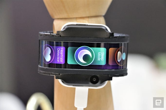 This audacious curved-screen wearable has a gaudy camera