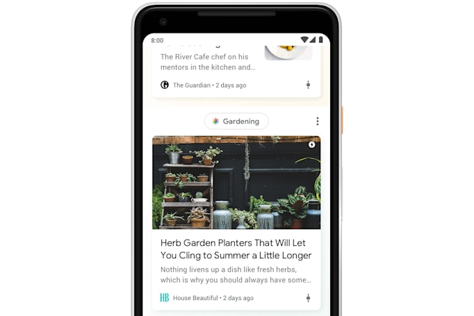 Google's interest-focused Discover feed launches on mobile web
