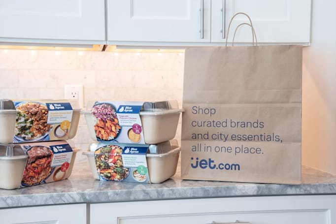 Jet.com is the first online retailer selling Blue Apron meal kits