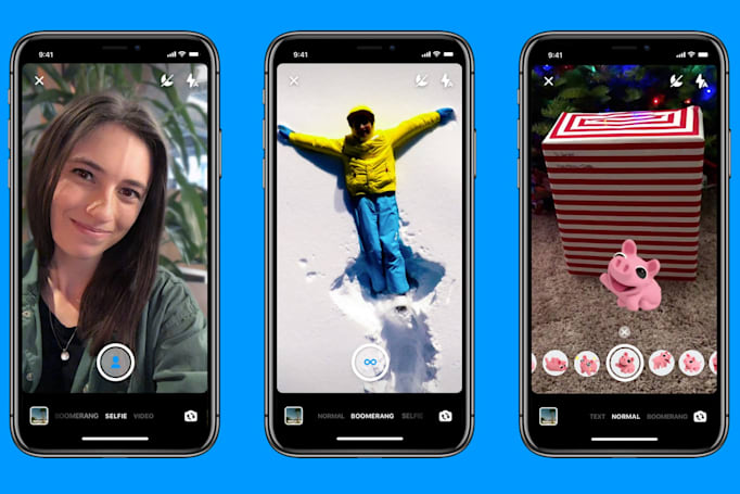 Facebook Messenger's camera fakes portrait mode photos