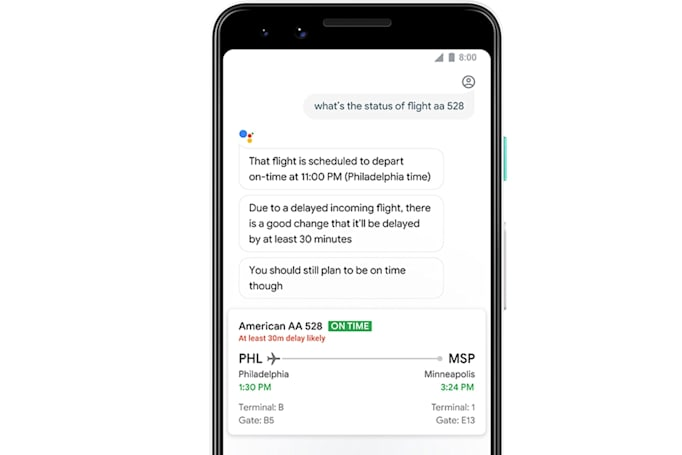 Google Assistant will warn you when it predicts flight delays