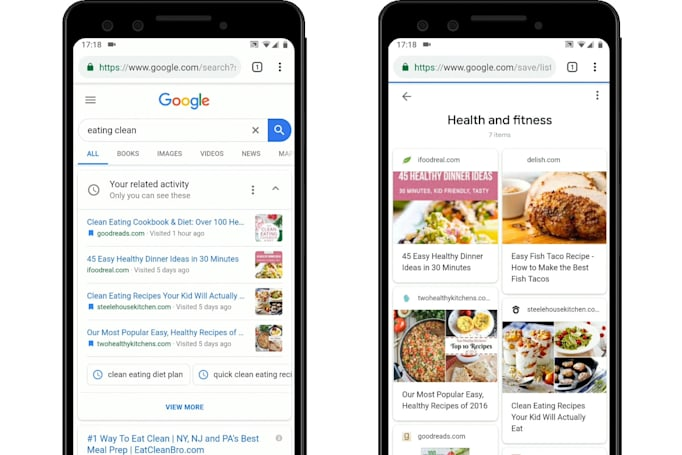 Google activity cards now help you find previous searches