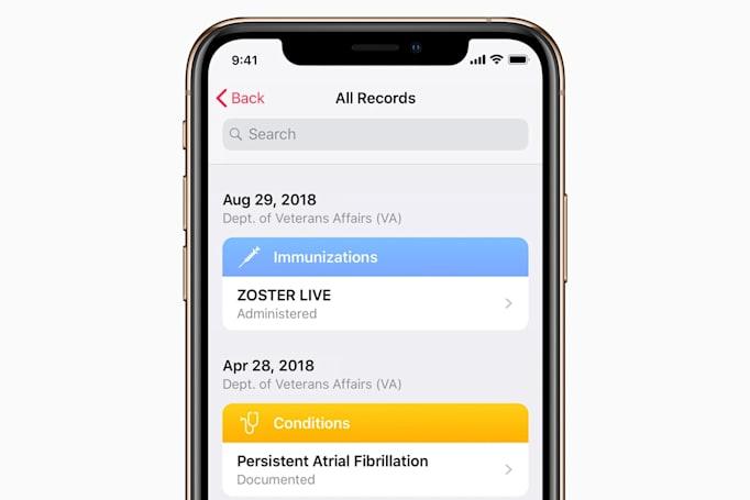 Veterans can access their medical info through Apple's Health Records