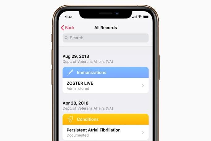Veterans can access their medical info through Apple's Health Records
