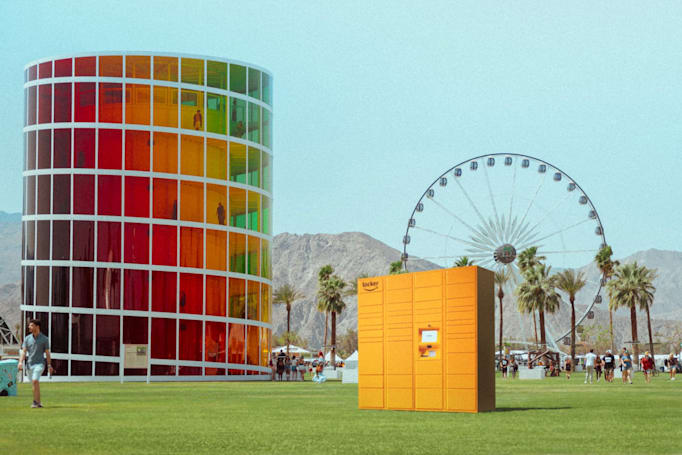 Amazon's Coachella delivery lockers will help you get more sunscreen