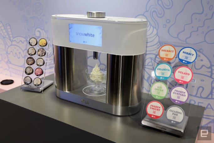 LG's SnowWhite is like a Keurig for ice cream