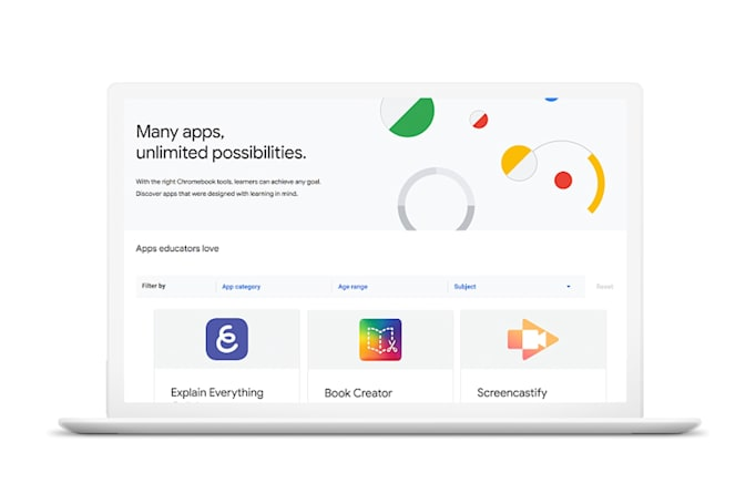 Chromebook App Hub gives teachers ideas for class activities