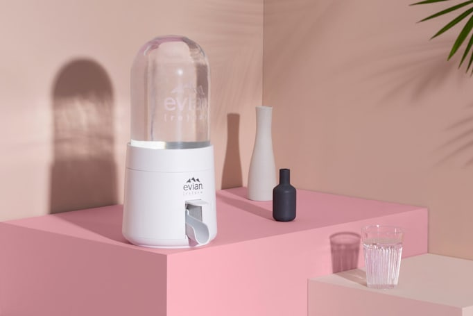 Evian's answer to wasteful plastic bottles is a smart water dispenser