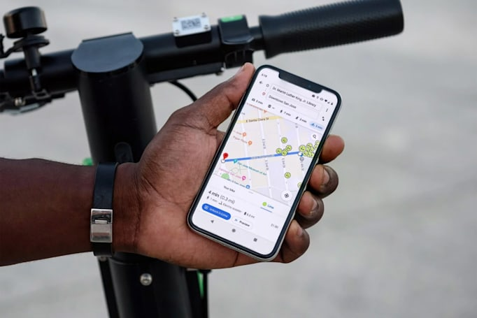 Google Maps gives you more ways to find Lime scooters