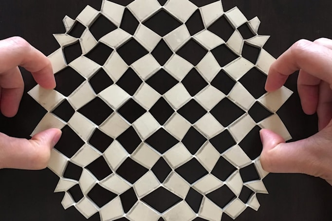 Papercraft-inspired math turns any sheet into any shape