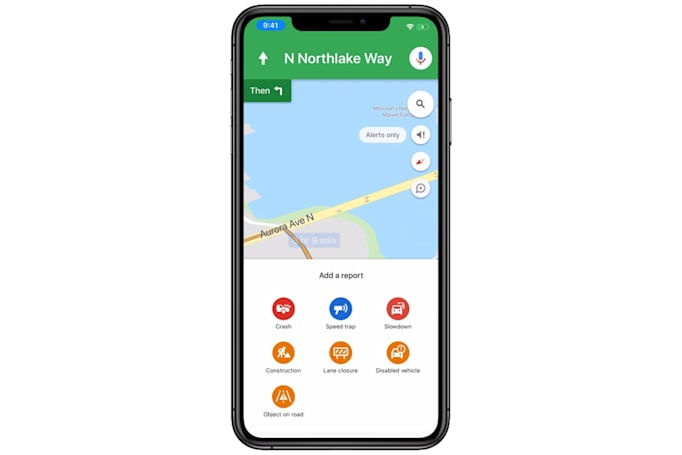 You can report traffic snarls in Google Maps for iOS