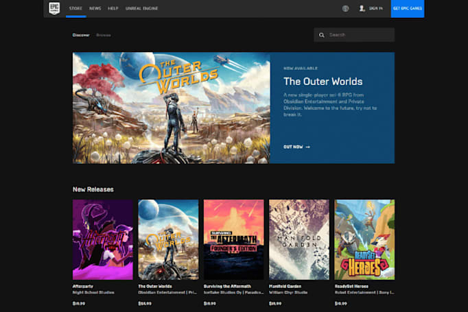 Epic Games Store revamp helps you find trending titles