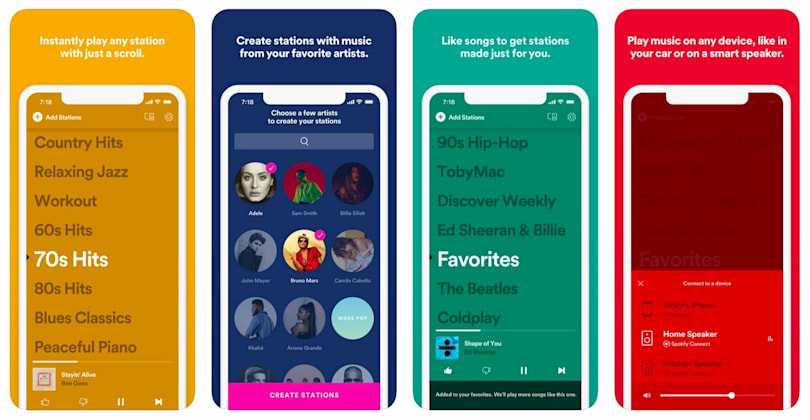 Spotify's Pandora-style Stations app arrives in the US