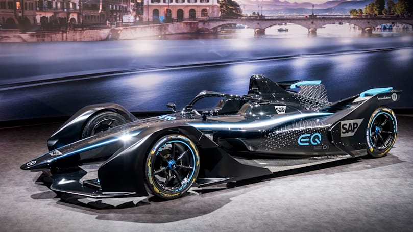 Mercedes unveils its first Formula E race car