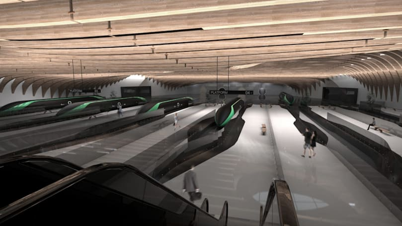 Take a virtual peek at what future Hyperloop stations could look like