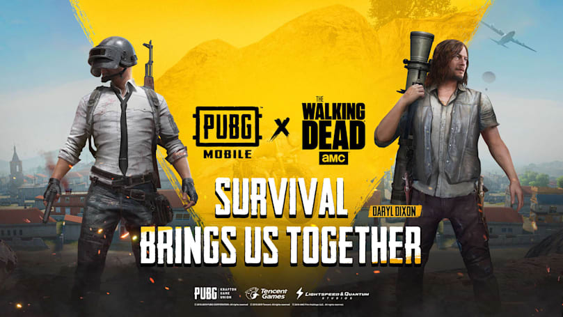 'PUBG Mobile' will add characters and gear from 'The Walking Dead'