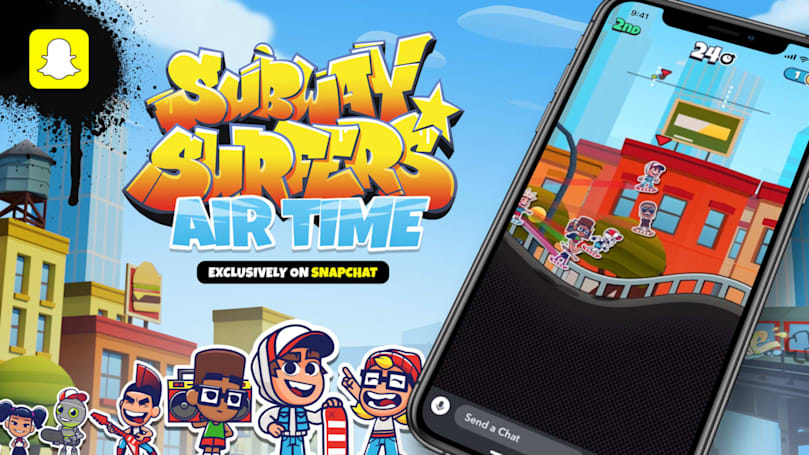 Snapchat is getting its own multiplayer version of Subway Surfers