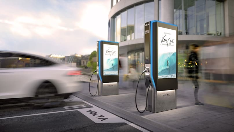 Volta's EV network gives you 30 minutes of free fast charging