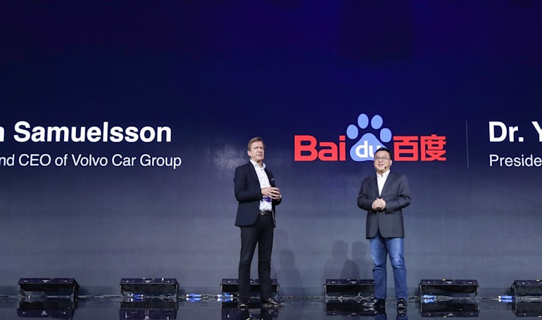 Volvo and Baidu team up to build self-driving cars for China