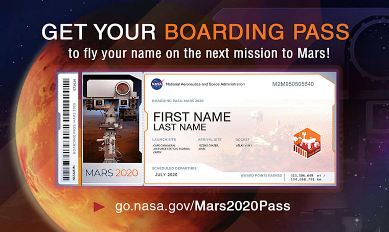 NASA wants you to get your boarding pass to Mars