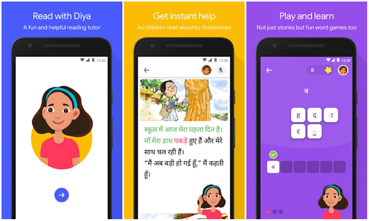 Google made a learn-to-read app for schoolchildren in India