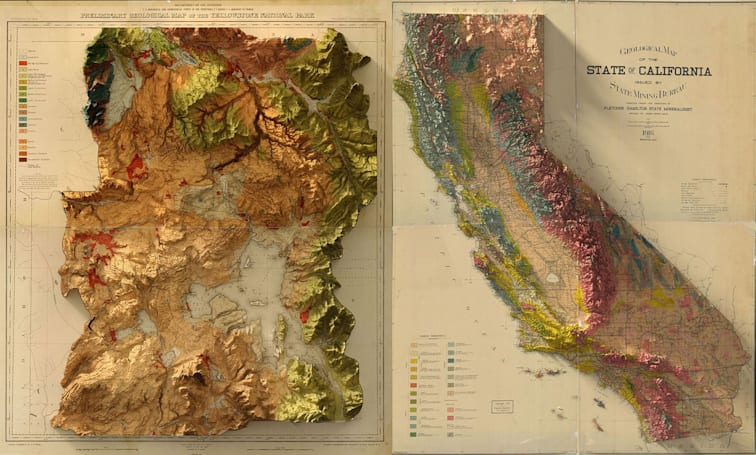 Bringing the wonder of old-school survey maps into three dimensions