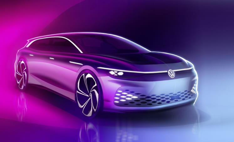 Volkswagen's ID Space Vizzion is an electrified station wagon