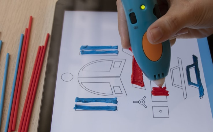 3Doodler's mobile app is like a coloring book for 3D printing