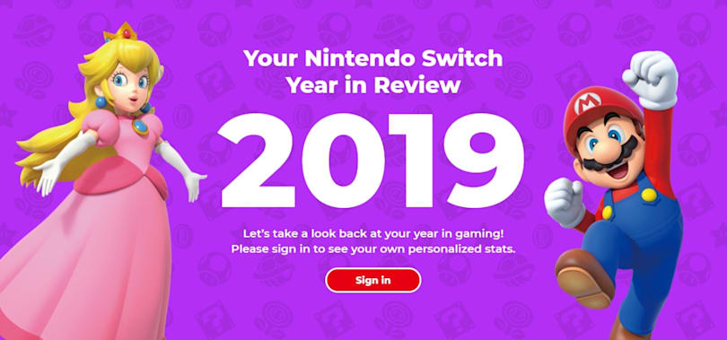 Nintendo's Switch year in review reveals your most-played games of 2019