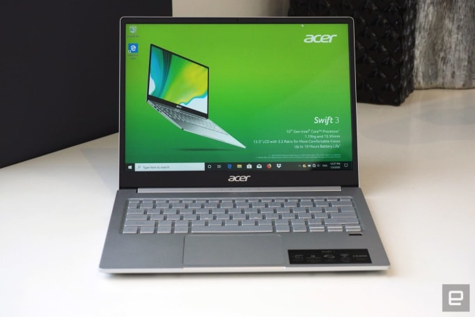 Acer updates its Swift 3 laptop with AMD and Intel's latest processors